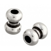 Metal Bead 8X10.5x3.2mm Antique Silver